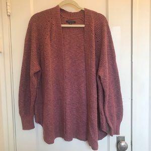Pink Mauve Knit Cardigan Sweater American Eagle
